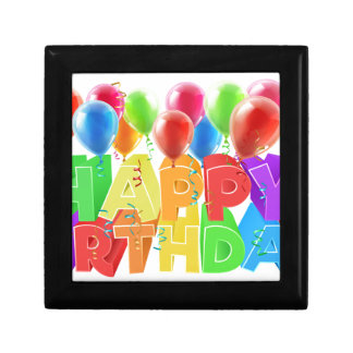 Happy Birthday Balloons Small Square Gift Box