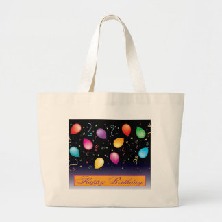 Happy Birthday balloons Jumbo Tote Bag
