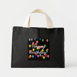 Happy Birthday Balloons Mini Tote Bag