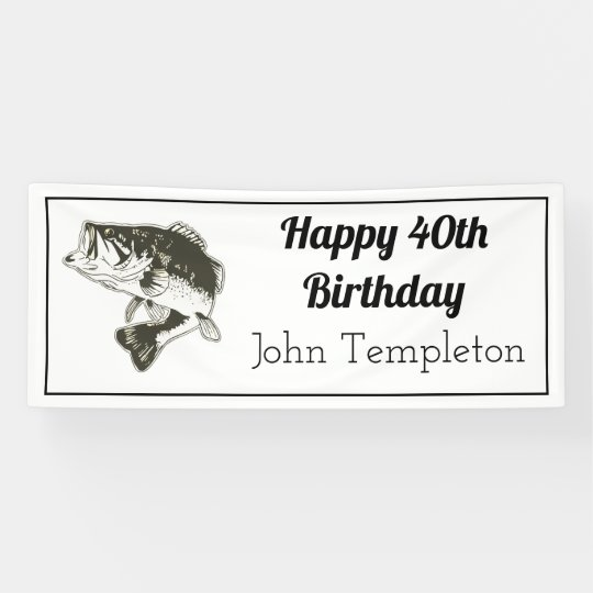 Happy Birthday Bass Fishing Mens Banner Zazzlecouk