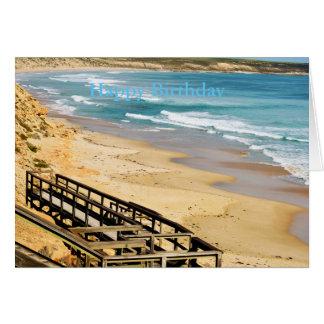 Happy Birthday Beach_Boardwalk,_Greeting Card