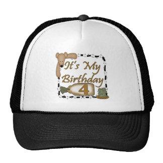 Happy Birthday Bear4th Birthday Gifts Cap