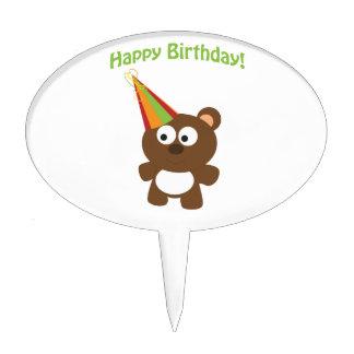 Happy Birthday! Bear Cake Pick