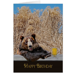 Happy Birthday Bear Cards