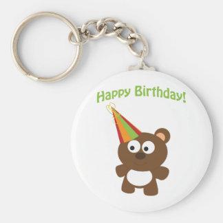 Happy Birthday Bear Keychain