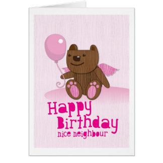 Happy birthday Bear Nice Neighbour Greeting Cards