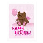 Happy Birthday Bear Sweetest Daughter! Postcards
