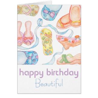 Happy Birthday Beautiful greeting card