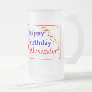 Happy Birthday Beer-Personalize It Mugs