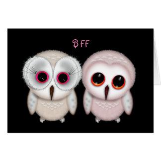 Happy Birthday BFF Owl Card