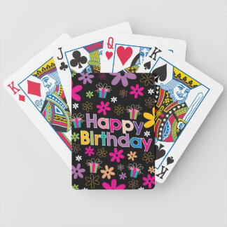 Happy Birthday Bicycle Playing Cards