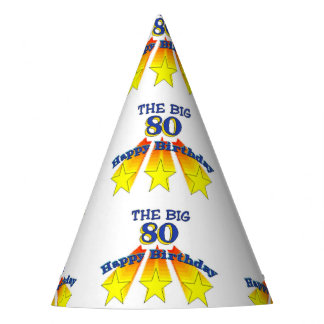 Happy Birthday Big 80 Party Hat