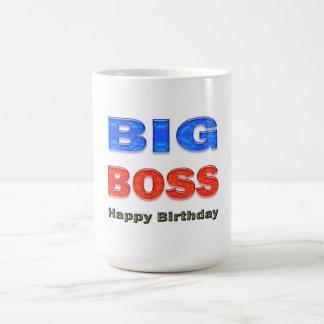 Happy Birthday Big Boss Birthday Gifts Basic White Mug