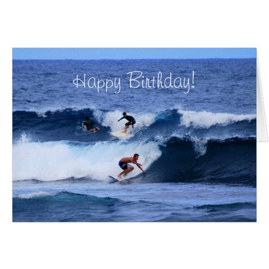 Happy Birthday Big Island Hawaii Surfers Card