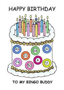 Happy Birthday Bingo Buddy Card
