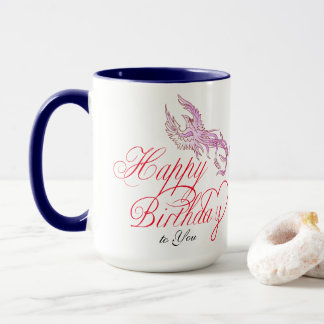 Happy Birthday Bird & Add Wife's Name Combo Mug