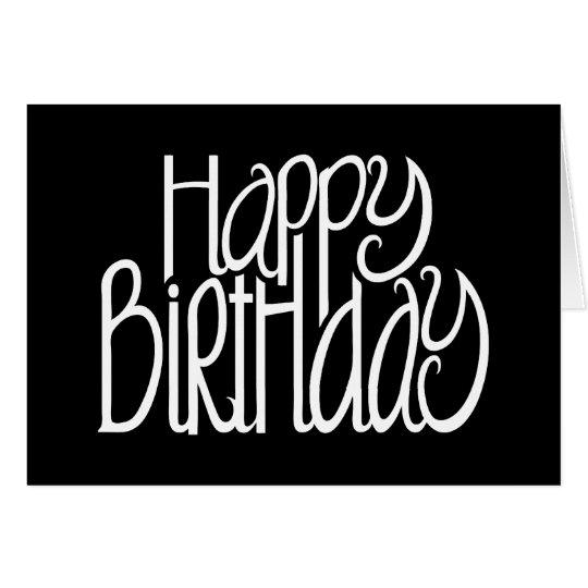 Happy Birthday Black Card