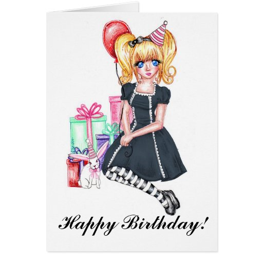 Happy Birthday (Black) Card