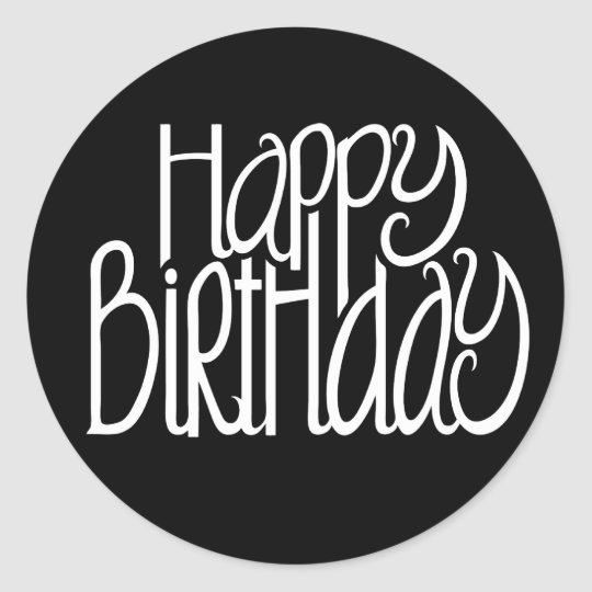 Image Result For Happy Birthday Card Black And White