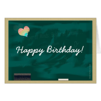 Happy Birthday Blackboard Card