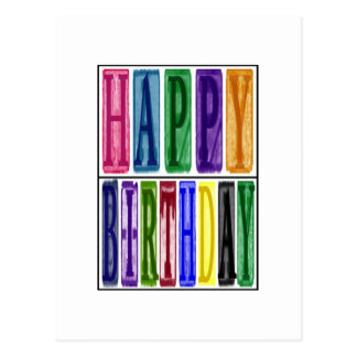 Happy Birthday Blocks Postcard Post Card