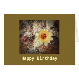 Happy Birthday Blooming Cactus Template Card