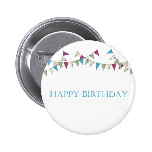 Happy Birthday - blue Pin