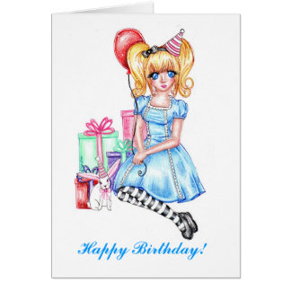 Happy Birthday (Blue) Card