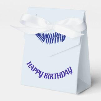 Happy Birthday Blue Fern Favor Box