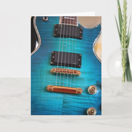 Guitar Birthday Cards