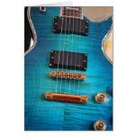 Happy Birthday - Blue guitar Body Greeting Card