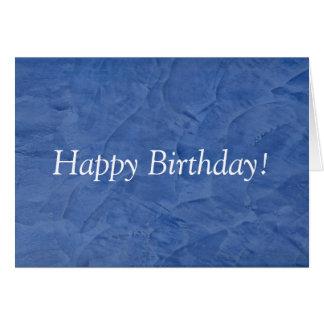 Happy Birthday Blue Plaster Greeting Card
