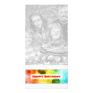 happy birthday (bokeh) personalized photo card