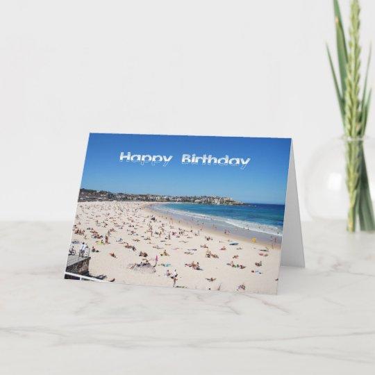 Happy Birthday Bondi Beach Sydney Australia Card