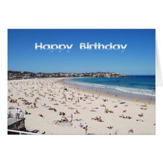 Happy Birthday, Bondi Beach, Sydney, Australia Greeting Card