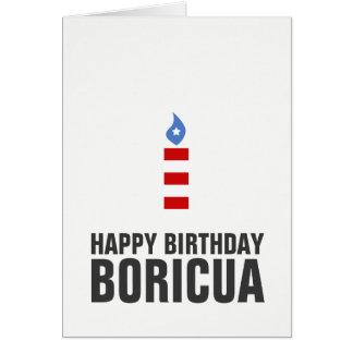 Happy Birthday Boricua, Puerto Rico Card