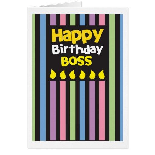Happy Birthday BOSS! Greeting Card   Zazzle