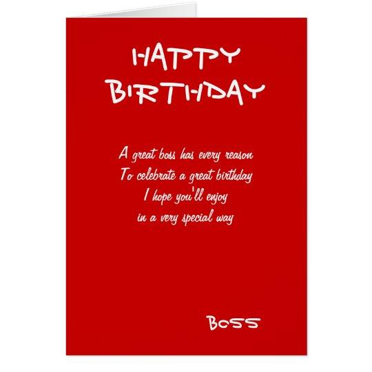 Happy birthday boss greeting cards zazzle happy birthday boss greeting cards m4hsunfo