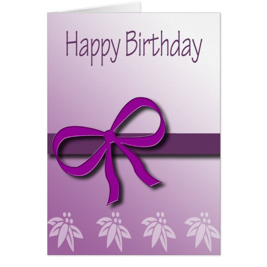 Happy Birthday Bow Card in Fashion Violet