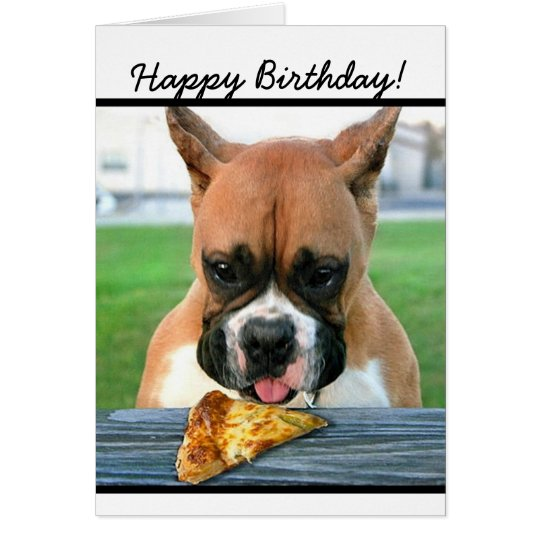 Happy Birthday boxer dog greeting card
