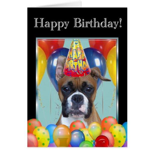 Happy Birthday Boxer Greeting Card