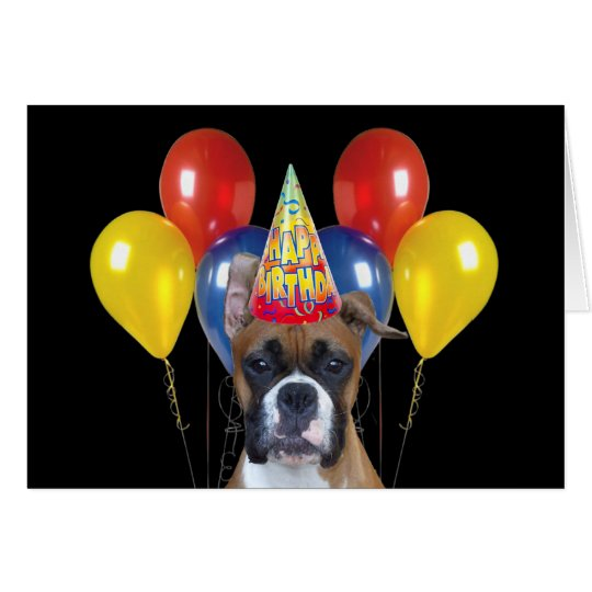 Happy birthday boxer greeting card