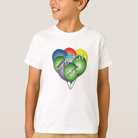 Happy Birthday Boy Balloons T-Shirt