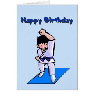 Happy Birthday Boy Martial Arts Greeting Card