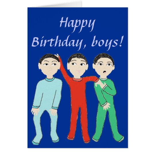 Happy Birthday, boys greeting Card