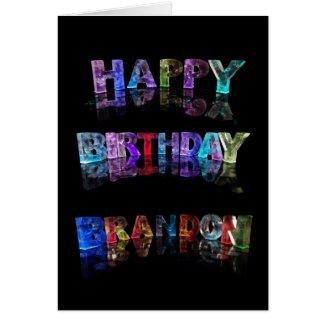 Happy Birthday Brandon Card