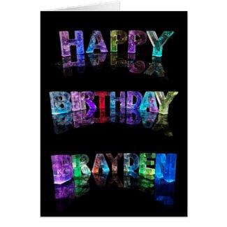 Happy Birthday Brayden Card