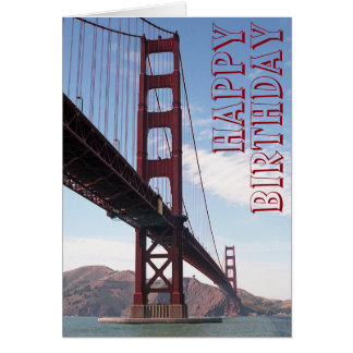 Happy Birthday Bridge Card