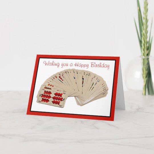 Happy Birthday Bridge Card Playing Cards Poker Zazzle