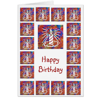 Happy Birthday - Bright Candle Show Note Card